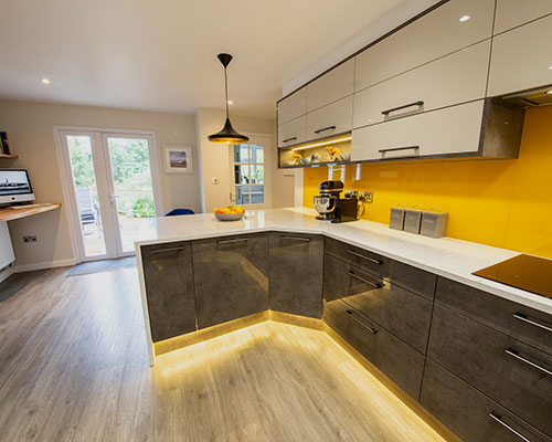 Kitchen design and fitting for a client in Osbaston, Monmouth